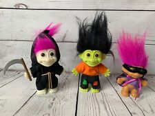 Lot of 3 Collectable RUSS Halloween Troll Dolls