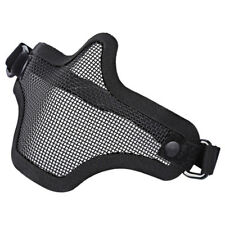 Airsoft Gear Half Face Strike Metal Mesh Tactical Protective Mask Black US