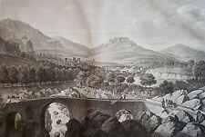 SALATHÉ : SITE DES BAINS D'ARLES. Et du fort les-bains. D'apres MELLING. 1826