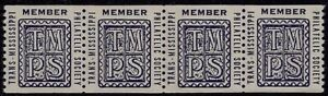 "Trans Mississippi Philatelic Society Member ""TMPS"" Cinderella Poster Stamps MNH"