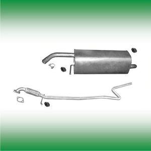 Système D/'échappement Endschalldämpfer Ford Fiesta 1.25 1.3 1.4 2001-2005 HAYON