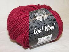 "Lana Grossa ""cool Wool"" 468 weinrot 50g wolle"