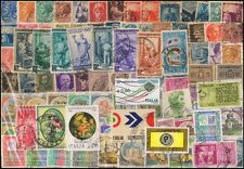 ITALY, 100 All Different Postage Stamps, Used, Large & Small