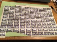 Spain 1944 stamps part sheet  stains & Damage  sent folded  Ref 51063