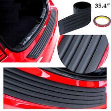 """35.4"""" Auto Rear Bumper Guard Trunk Edge Black Rubber Protector Strip Trim Cover"""