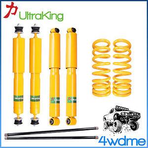 """Mitsubishi Pajero NH NJ NK NL F & R Shocks Torsion Bar + KING Spring 2"""" Lift Kit"""