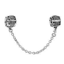Fashion Silver Clip Safety Chain Bead Fit European 925 Charms Sterling Bracelet