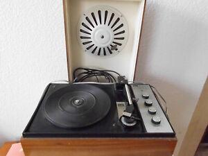 Alter Elac 161 HV Stero Plattenspieler mit Box Kofferplattenspieler Rarität Alt