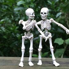 Mr. Bones Skeleton Human Model Movable Skull Full Body Mini Figure Toy Halloween