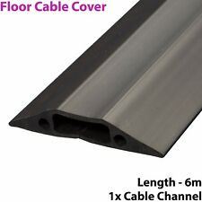 6m x 68mm Heavy Duty Rubber Floor Cable Cover Protector-Conduit Tunnel Sleeve