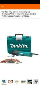 Makita 3 Amp Corded Variable Speed Oscillating Multi-Tool Kit With Blade,...