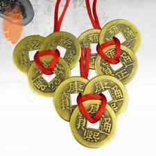 3×Chinese Feng Shui Brass Coins I Ching for Good Luck Fortune Success Wealth