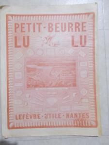 ANCIENNE AFFICHE PETIT BEURRE LU GRAND PRIX 1900 L'ILLUSTRATION 1923