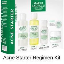 Mario Badescu Acne Starter Kit Cleanser Lotion Moisturiser Cream Treatment Mask
