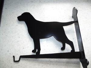 Gift idea ,Hanging basket / lead hook on fixing frame ,  Labrador