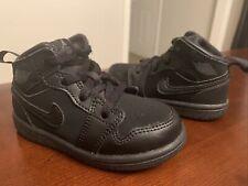 Toddler Nike Jordan 1 Mid Basketball Shoes 'Black Grey' - Size 6C