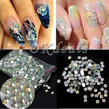 Resin Diy Round Rhinestone Beads Nail Art Flatback Crystal Ab