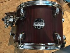 mapex mars birch 12 x 8 tom drum bloodwood (red) with chrome