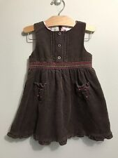 JANIE AND JACK Gingerbread Spice Brown Corduroy Jumper Dress Size 2T