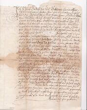 Historische Handschrift 1656 Papiersiegel Zell Dokument Wappen