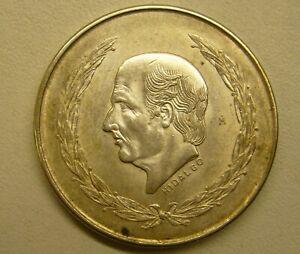 1951 Mexico Hidalgo 5 Cinco Pesos Silver Coin