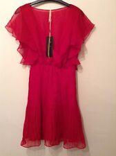 """BNWT """"Pepe Jeans"""" SIZE S (8-10) Red Emmy mousseline Pleat Angel dress (36-38)"""