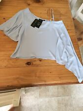 New Look Size 14 Top Vest Blouse RRP £19.99 Blue BNWT With Tags Off Shoulder