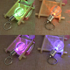 Color Changing LED Flashlight Light Bulb Lamp Key Ring Keychain Lamp Torch