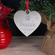 Personalised Dog Cat Pet Memorial Christmas Tree Decoration Bauble Xmas Gift