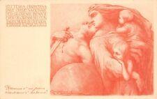 2861) WW1, CARTOLINA BIGLIETTO LOTTERIA PRO ORFANI DI GUERRA. ASSEGNO DI 100.000