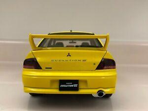AUTOART 1:18 Mitsubishi Lancer EVOLUTION VIII RHD Yellow Die-Cast EXTREMLY RARE!