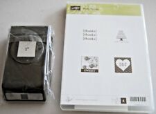 """Stampin Up ~Pretty Postage ~ w/Matching 1"""" Punch Bundle ~ All new and unused"""