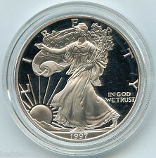 1997 American Eagle One Ounce PROOF Silver Coin 1 oz bullion OGP US Mint KU333