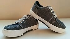 Cherokee Toddle Boys Slip On Canvas Tennis Shoes Sneakers Chambray Black Grey 5