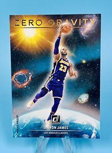 LeBron James 2020-21 Donruss Zero Gravity GOLD PRESS PROOF LA Lakers Clean!!