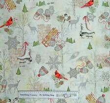 Patchwork Quilting Sewing Fabric WINTER CELEBRATION CHRISTMAS Material 50X55c...