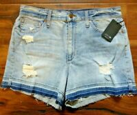 Joe's Jeans Women's Casual Shorts Distressed Denim Pockets Button Zip Size 30