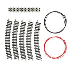 5 x Roco / Peco N Gauge Single curve R1 Model Railway track connector + cables