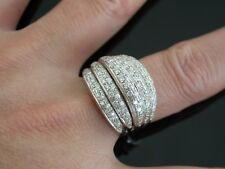 Fancy 18K. White Gold Diamond Band Ring  Sz 9 GIA Appraisal ..  . 0571