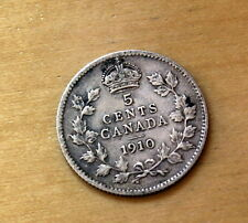1910 Canada 5 Cents Silver