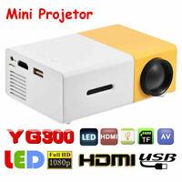 Mini 1080P Portable LED Projector Home Theater Cinema Multimedia Player HDMI