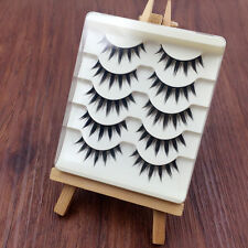5 Pairs Japanese Cosplay Fake Eyelashes Natural Thick Long False Eye Lashes