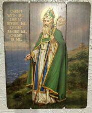 """ST PATRICK "" PALLET SIGN, 12 x 15"" New in box!  STUNNING!"