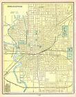1902 Antique INDIANAPOLIS Map George Cram Map of Indianapolis Indiana 5809