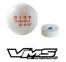 VMS WHITE RED FING FAST SHIFT KNOB 6 SPEED SHORT THROW SHIFTER LEVER M10X1.25 2