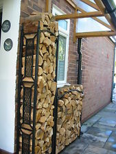 Wrought Iron Log Store ( Hand made / made to measure ) Made in the UK