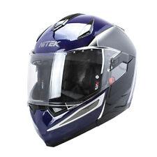 Nitek Diamond Gloss Blue Modular Flip Up Full Face DOT Motorcycle Street Helmet