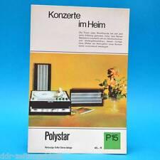 Polystar Koffer-Stereo-Anlage DDR 1968 | Prospekt Werbung Werbeblatt DEWAG P15 C
