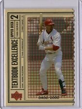 Mark Mcgwire 1999 Upper Deck UD Textbook Excellence Parallel DIE CUT # 406/2000