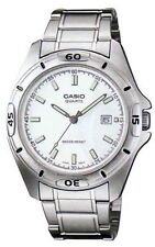 Casio MTP1244D-7A Men's Standard Analog Stainless Steel Date White Dial Watch